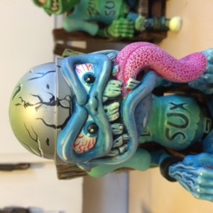 Hand Painted Blue Sparky