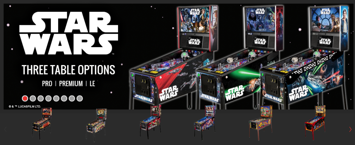 Star Wars Pinball Machine >> Stern Star Wars Pinball Machine Pinballpro Com