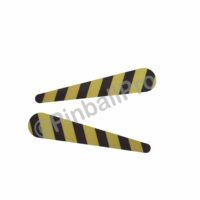 caution tape flipper decals